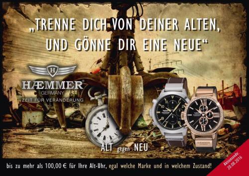 Aktion alt gegen neu von Haemmer