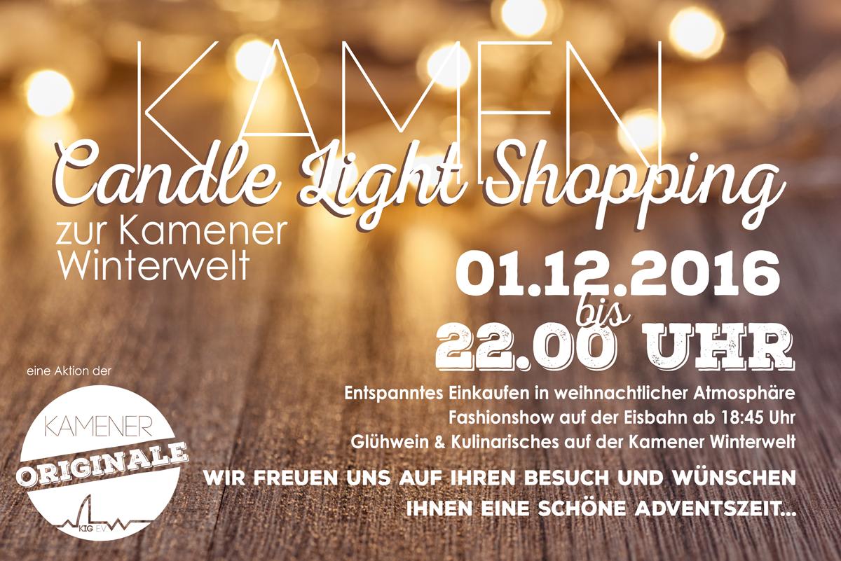 Besonders Flair - Candle Light Shopping bis 22.00 Uhr - Wir sind dabei!
