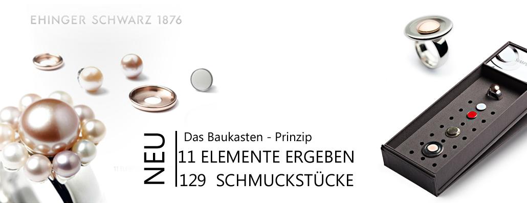 11 Elemente 129 Schmuckstücke Ehinger Schwarz