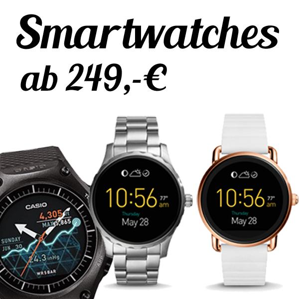 Smartwatches von Fossil und Casio - vorrätig! Smart Outdoorwatch und QWander